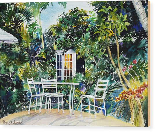 Michelle And Scott's Key West Garden Wood Print