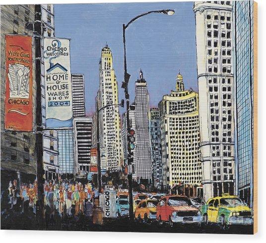 Michigan Ave Chicago  Wood Print