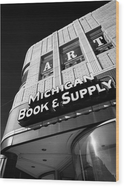 Michigan Book And Supply Wood Print