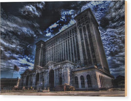 Michigan Central Station Hdr Wood Print