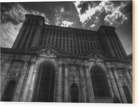 Michigan Central Station Highrise Wood Print