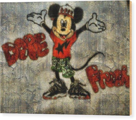 Mickey Of 11 Wood Print by Travis Hadley