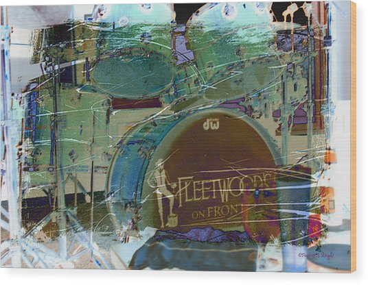 Mick's Drums Wood Print