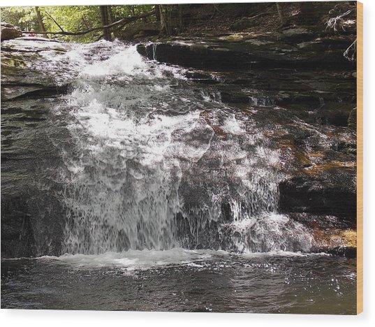 Middle Chapel Brook Falls Wood Print
