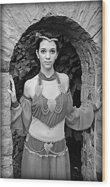 Middle Eastern Princess Wood Print by Stephanie Grooms
