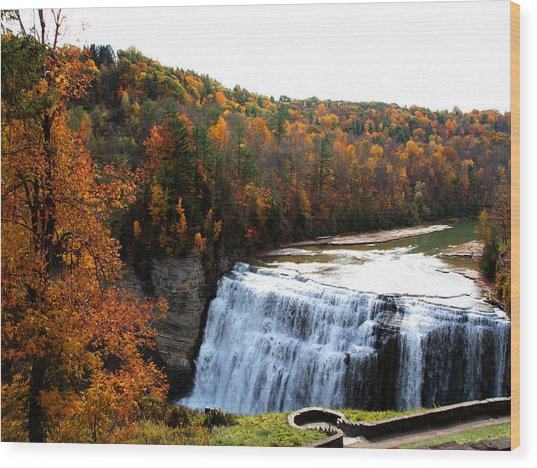 Middle Falls Letchworth State Park Wood Print