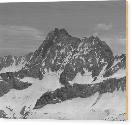 406429-e-middle Palisade Bw Wood Print