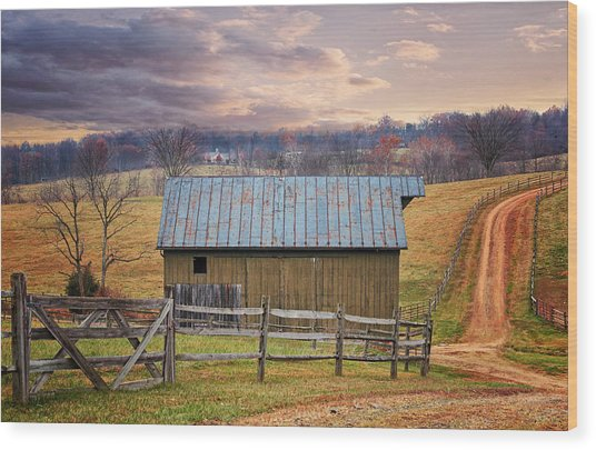 Middleburg Virginia Countryside Wood Print