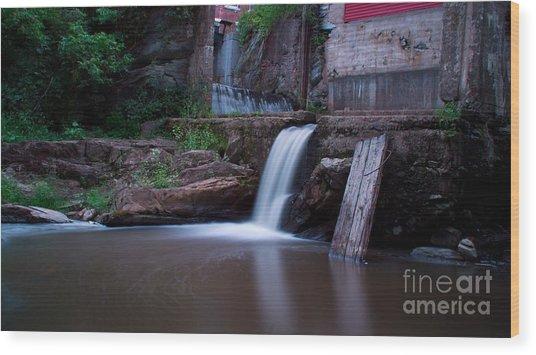 Middlebury Falls. Wood Print