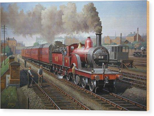 Midland Railway Single 1896. Wood Print