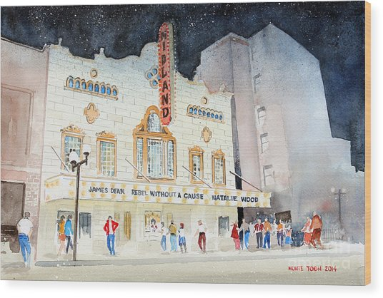 Midland Theatre Wood Print