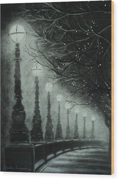 Midnight Dreary Wood Print