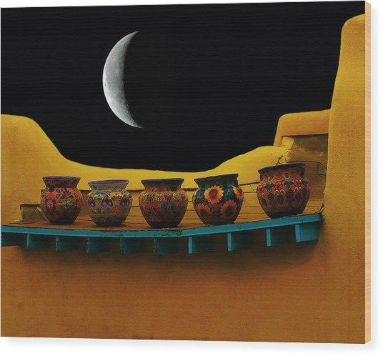 Midnight In Taos Wood Print