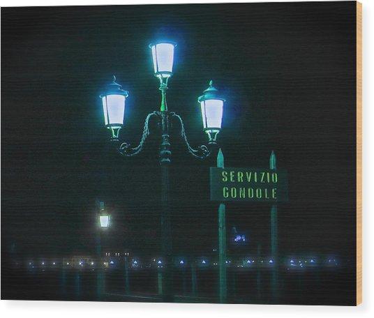 Midnight In Venice Wood Print