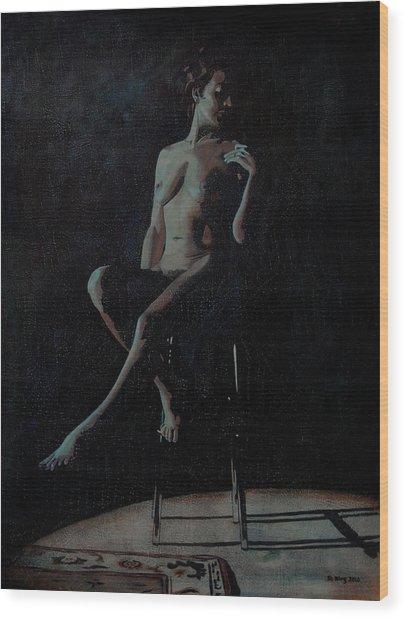 Midnight Wood Print by Jo King