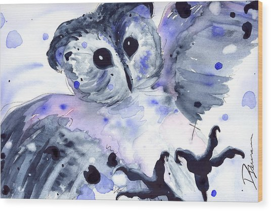 Midnight Owl Wood Print
