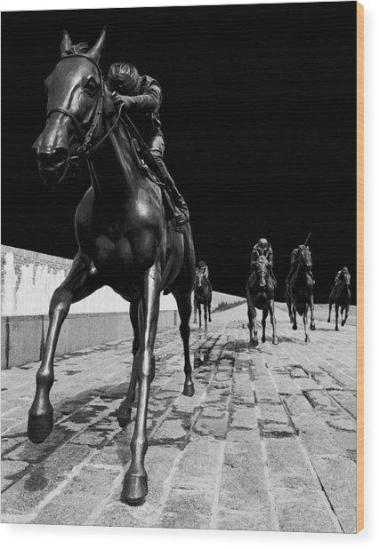 Midnight Ride Wood Print