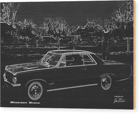 Midnight Rider Wood Print