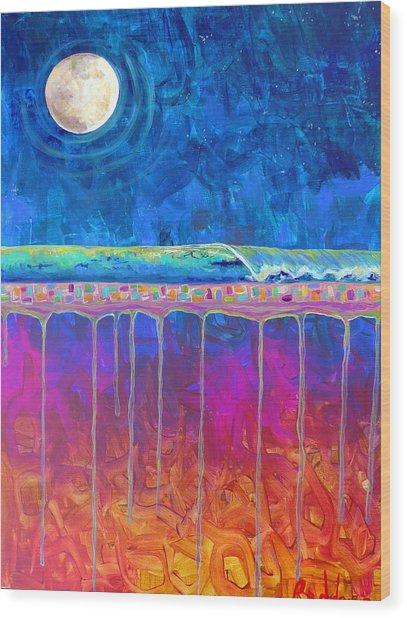 Midnight Run Wood Print by Dawn Gray Moraga