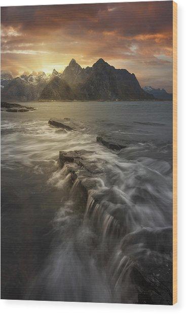 Midnight Sun II Wood Print by David Mart?n Cast?n