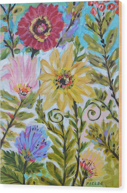 Midsummer Flowers Painting By Karen Fields
