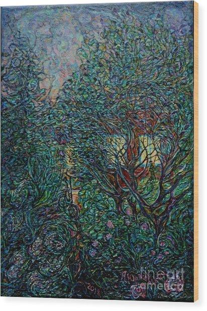 Midsummer Night Wood Print