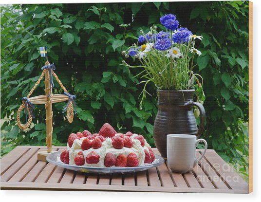 Midsummer Table Wood Print