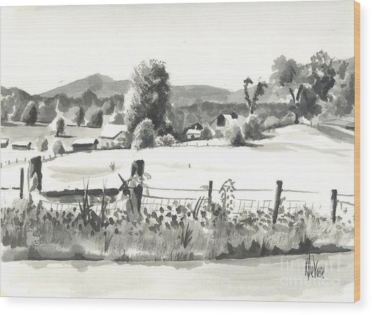 Midsummer View Out Route Jj   No I101 Wood Print