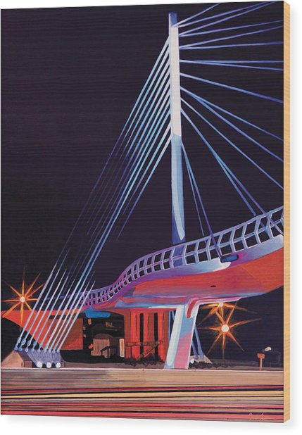 Midtown Greenway Sabo Bridge Wood Print
