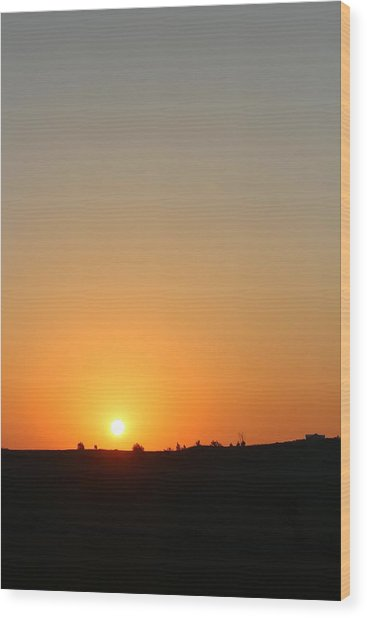 Midwest Sunset Wood Print by Angie Phillips aka Angieclementine