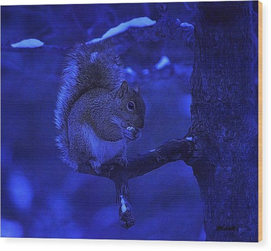 Midwinter Snack Wood Print