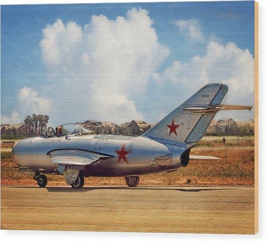Mig-15 Wood Print
