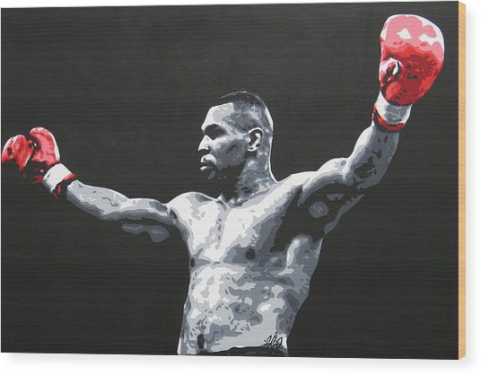 Mike Tyson 1 Wood Print