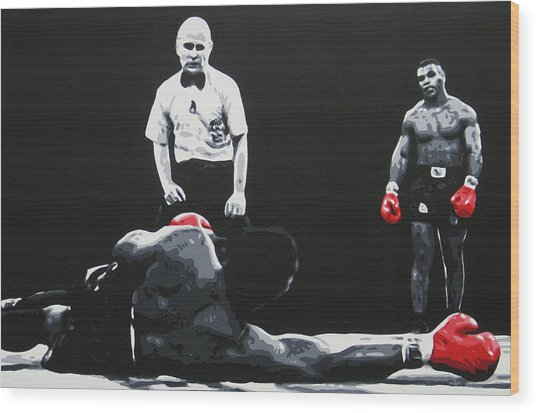 Mike Tyson 3 Wood Print