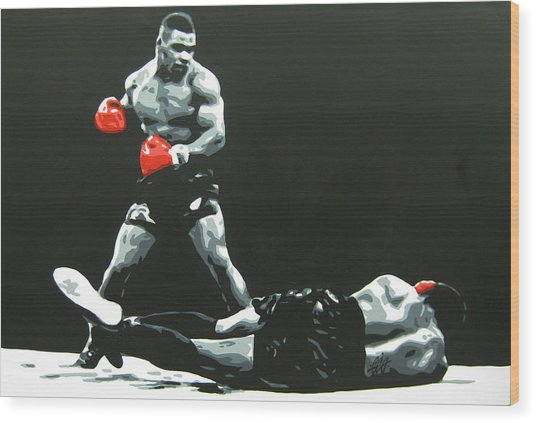 Mike Tyson 5 Wood Print