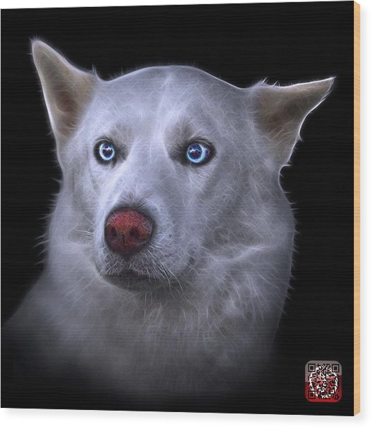 Mila - Siberian Husky - 2103 - Bb Wood Print