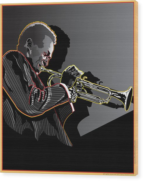 Miles Davis Legendary Jazz Musician Wood Print by Larry Butterworth