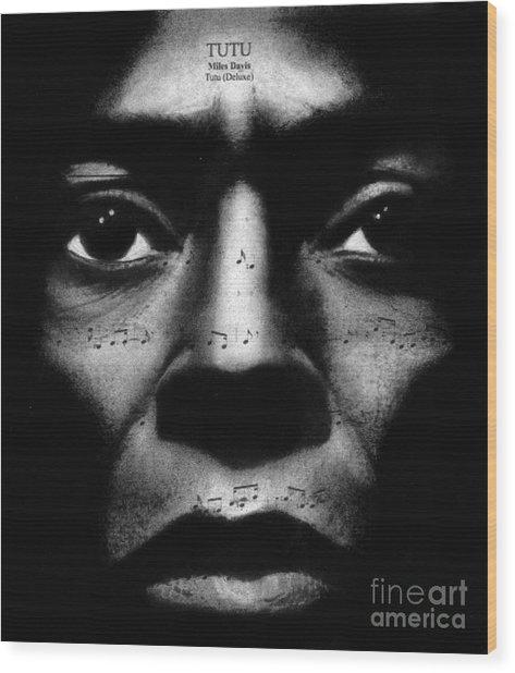 Miles Davis Tutu Wood Print