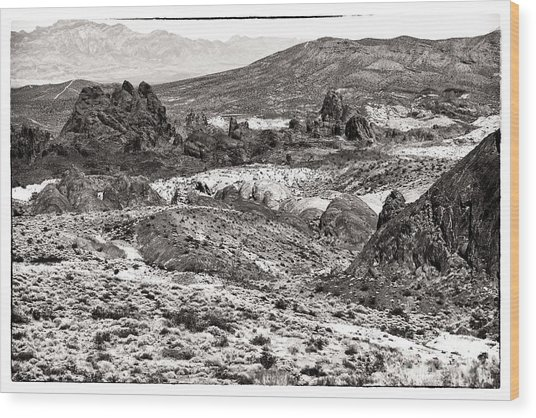 Miles Of Mountains Wood Print by John Rizzuto