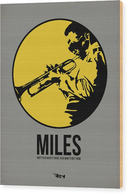 Miles Poster 3 Wood Print