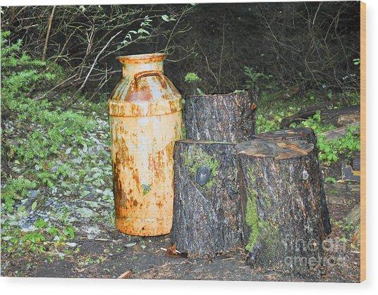 Milk Jug Still Life Wood Print
