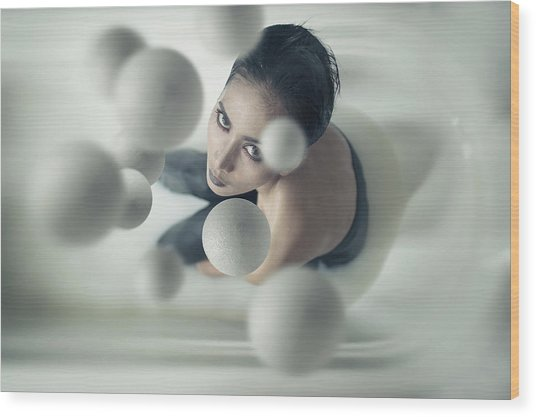 Milky Balls Wood Print