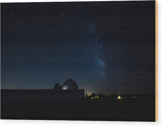 Milky Way And Observatory Wood Print