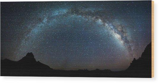Milky Way Bow Wood Print