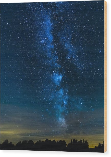 Milky Way Cherry Springs Wood Print