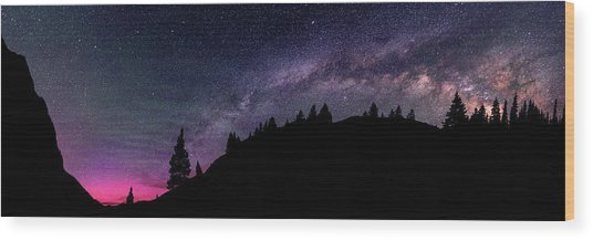 Milky Way In Grizzly Valley Wood Print by Photo By Matt Payne Of Durango, Colorado