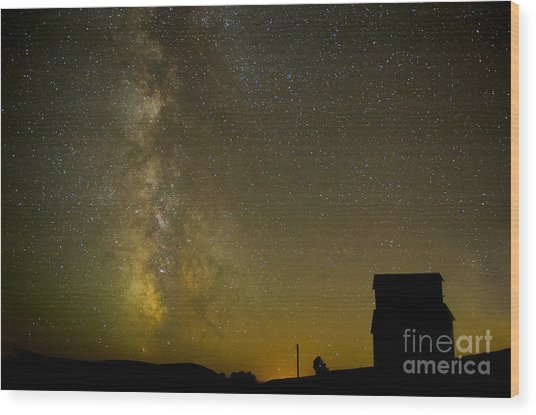 Milky Way Lights The Way. Wood Print by Jackie Follett