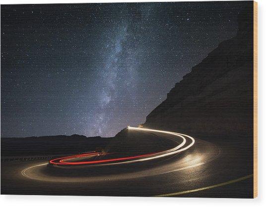 Milky Way Over Mitzpe Ramon Wood Print by Erez Vansover