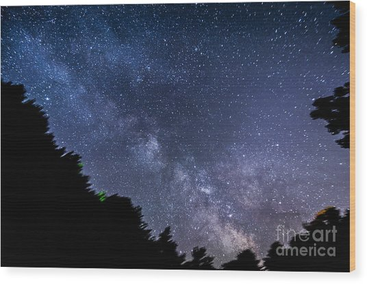 Milky Way Over Silver Springs Campground Wood Print