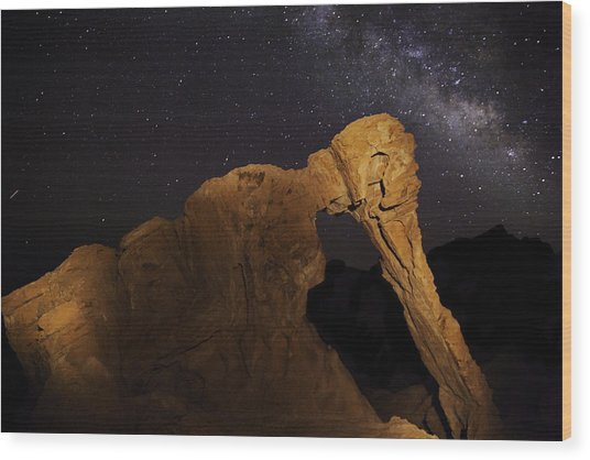 Milky Way Over The Elephant 3 Wood Print